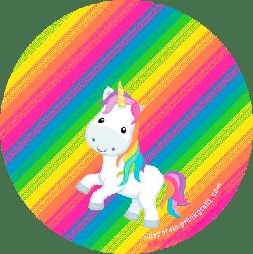 Kits Imprimibles Unicornios gratis