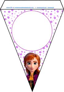 Banderines Elsa y Anna Frozen 2