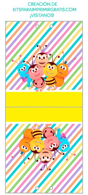 Portapaletas de Bichikids dulceros para imprimir