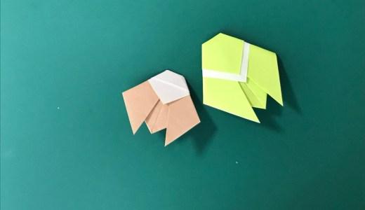 折り紙:背中の白いせみの折り方