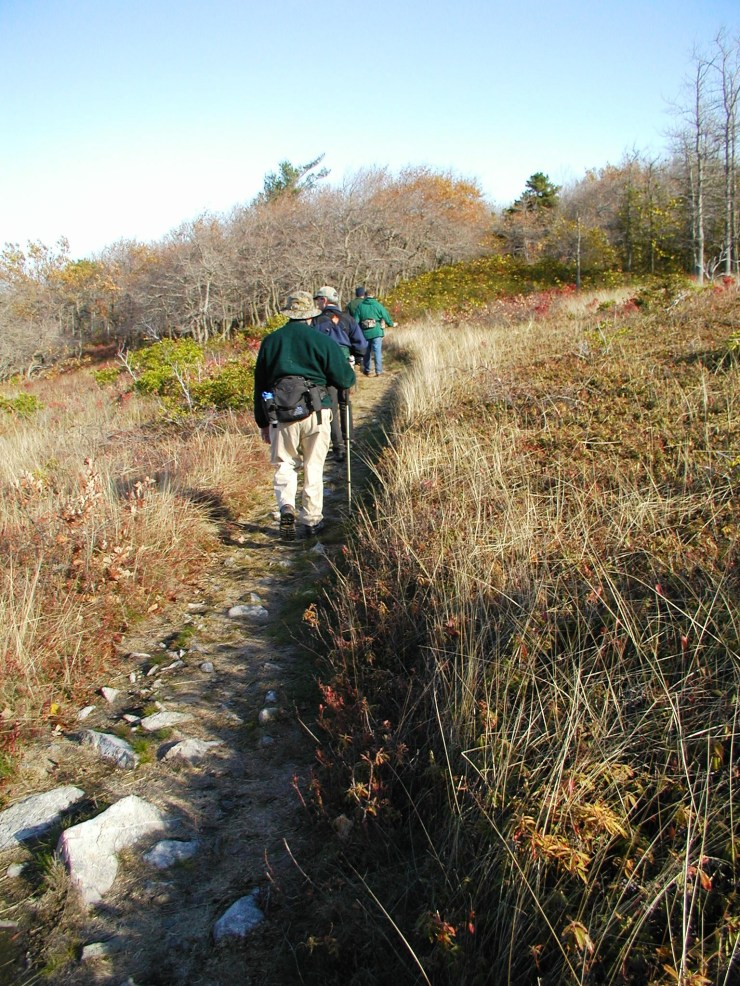 Hikers on A.T. in Carbon County