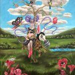 billedkunst, eventyr, landskab, natur, tegneserie, popsurrealisme, popsurrealism, contemporary art