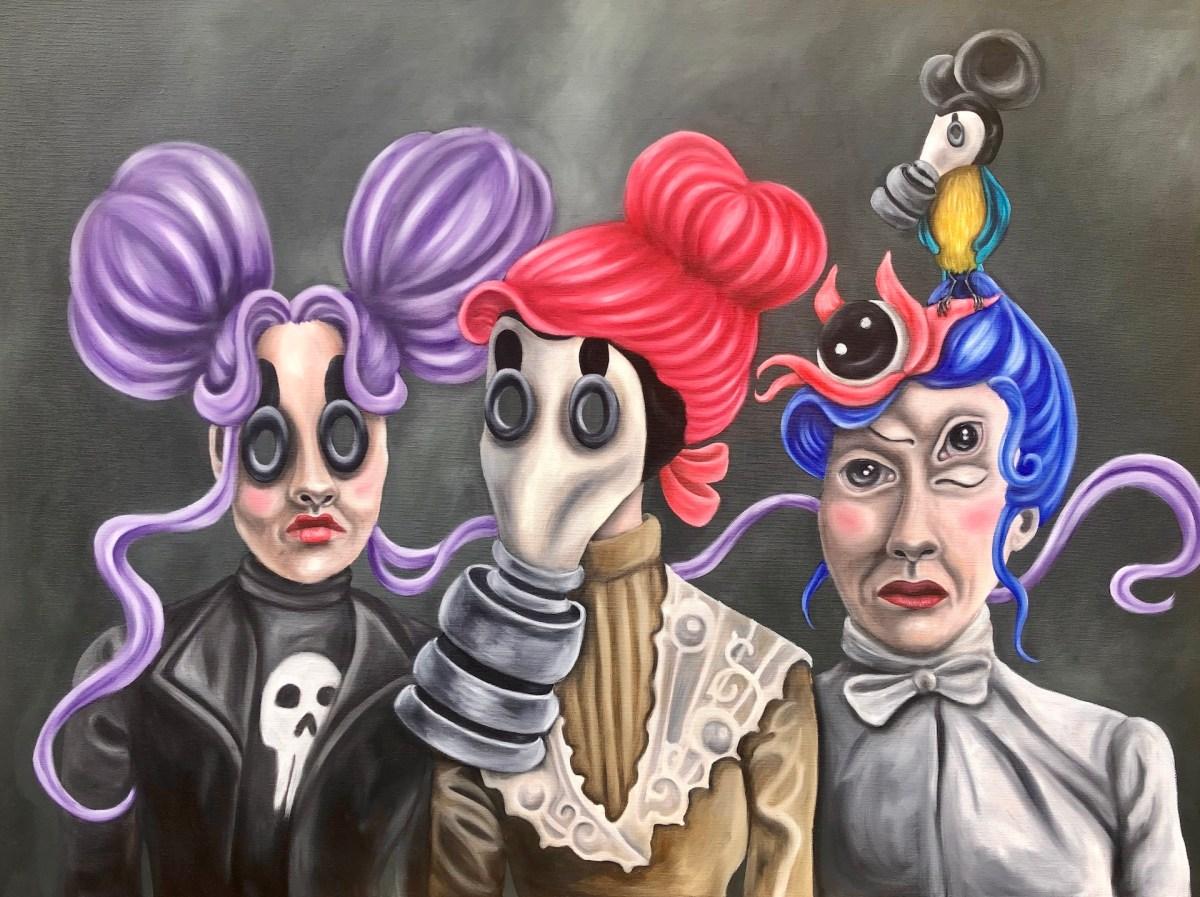 kibu billedkunst lowbrow popsurrealist Kitt Buch ancestors aner