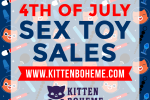 4th of July Sex Toy Sales and Deals at KittenBoheme.com