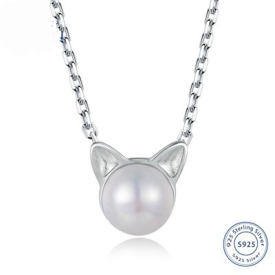cat ears pendant necklace