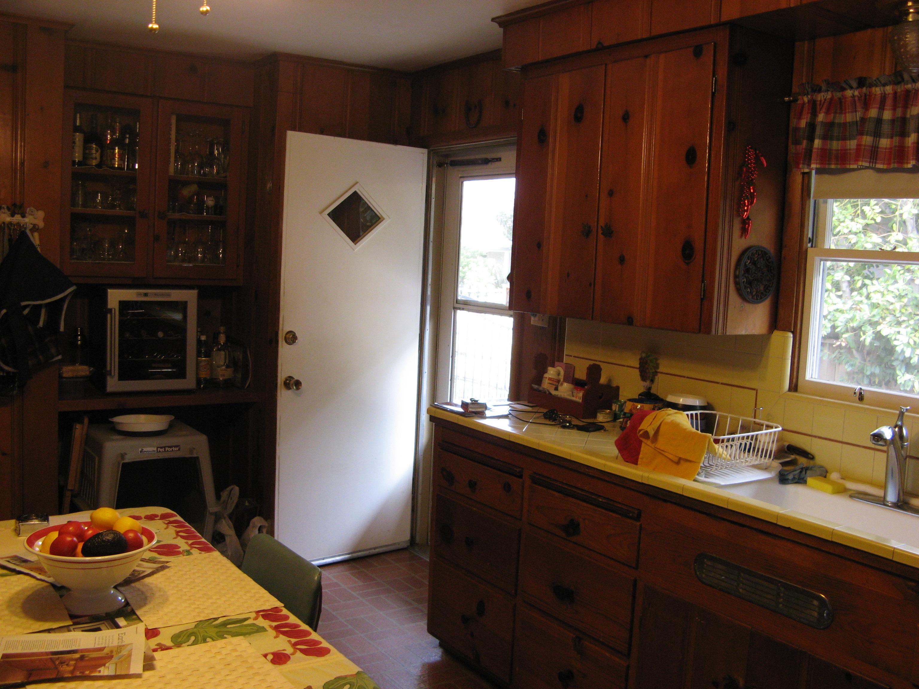 Knotty pine paneling and cabinets  Kitt Haman Design