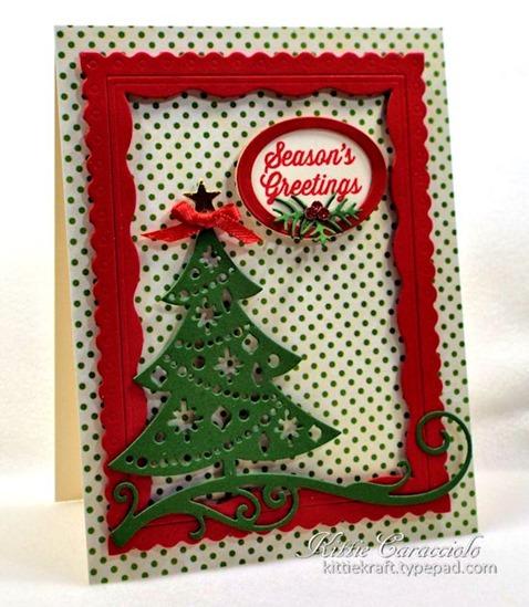 KC Impression Obsession Cutout Christmas Tree 2 left