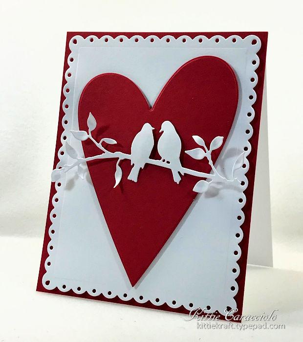 making a die cut valentine card is so much fun