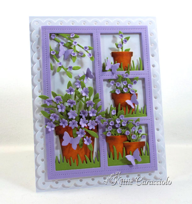 Come see how I made this window card with flower pots that would be perfect for a flower lover.