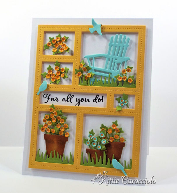 Come see how I made this die cut window frame card.