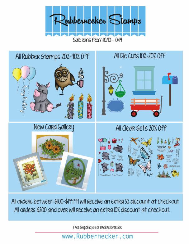 Rubbernecker Stamps October Sale