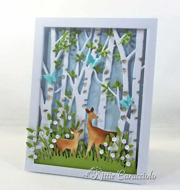 Come and see how I made this die cut birch tree scene.