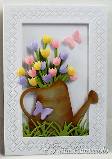 Come see how I made these pretty die cut flower and frame sample cards.