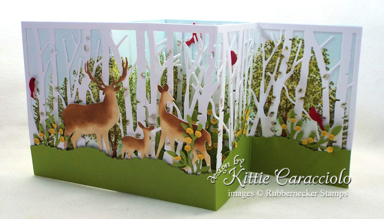 Come see how I made this Z fold birch and deer card.