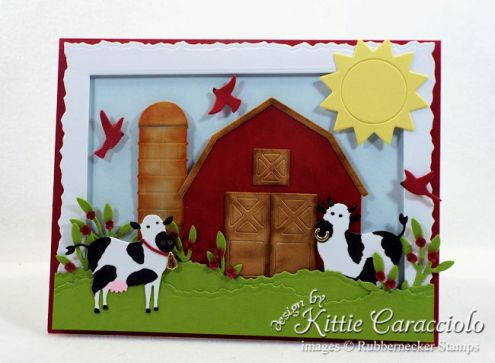 Rubbernecker Stamps Blog Come-see-how-I-made-this-die-cut-farm-animals-scene-card.
