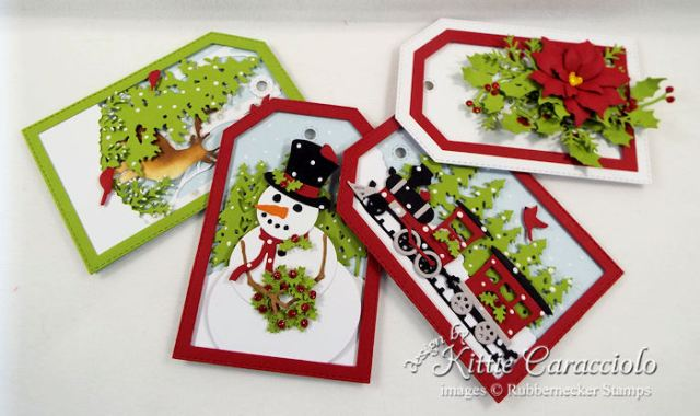 Come over to my blog to see how I made die cut gift tags.