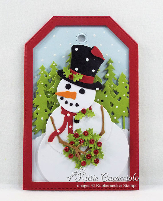 Come over to my blog to see how I made snowman die cut gift tags.