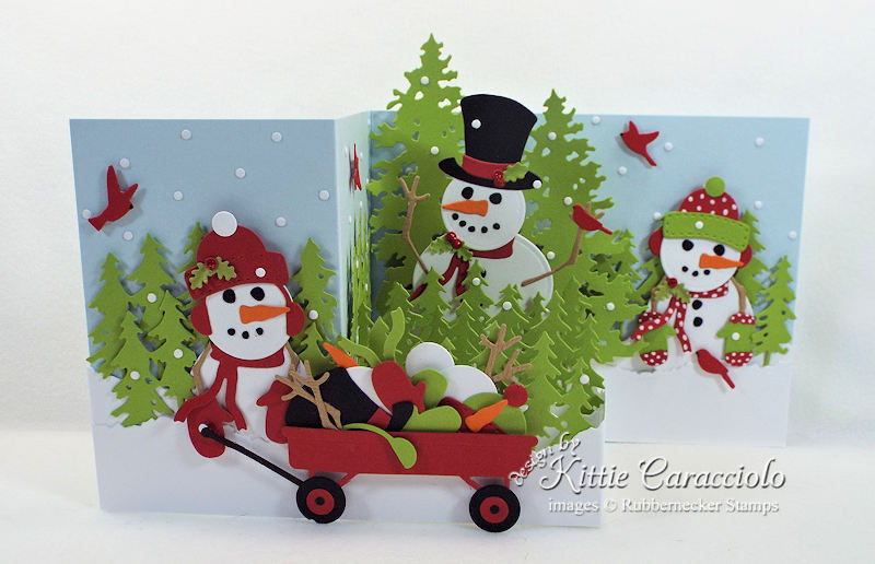 Come over to my blog to see how I made this Z Fold snowman card.