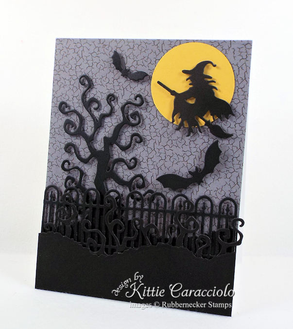 Come check out how I made this spooky witch halloween card.