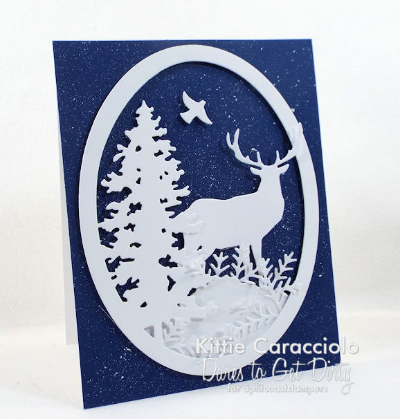 Come see how I made this easy splatter snowy background.