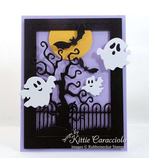 Come see how I made this fun Halloween ghosts and bats card.