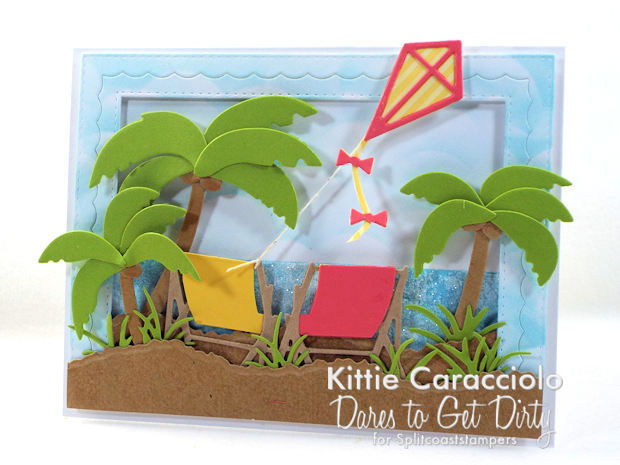 Come see how I made this palm trees beach scene card.