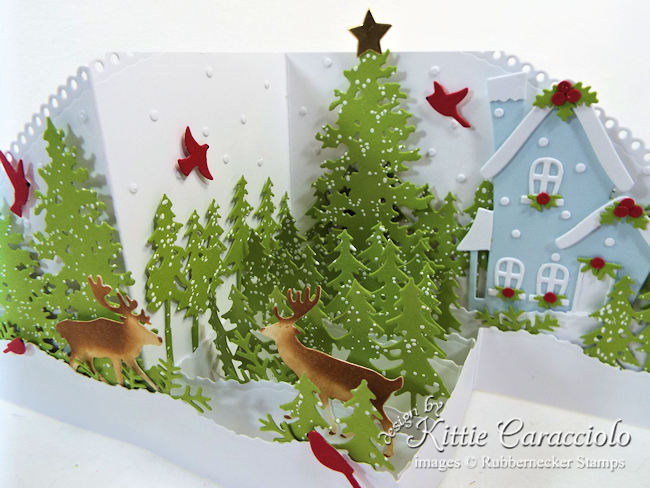 Come see how I made my snowy Z Fold Christmas card.