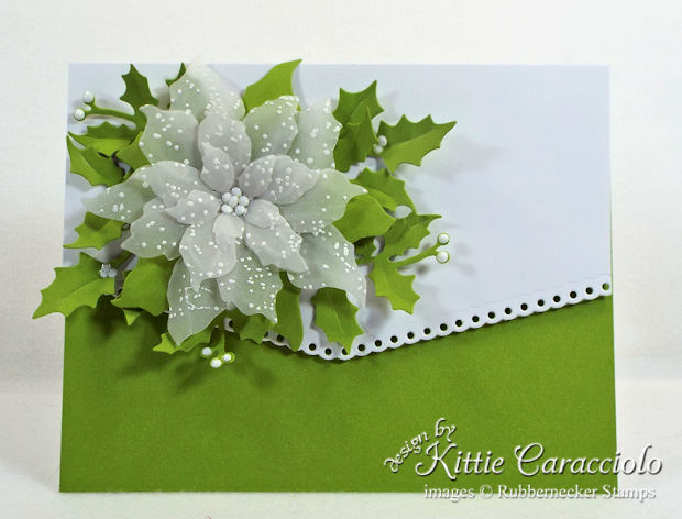 Come see how I made this elegant vellum poinsettia Christmas card.