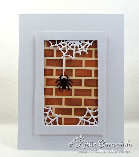 Come see how I made this fun Halloween spider and spiderwebs card.