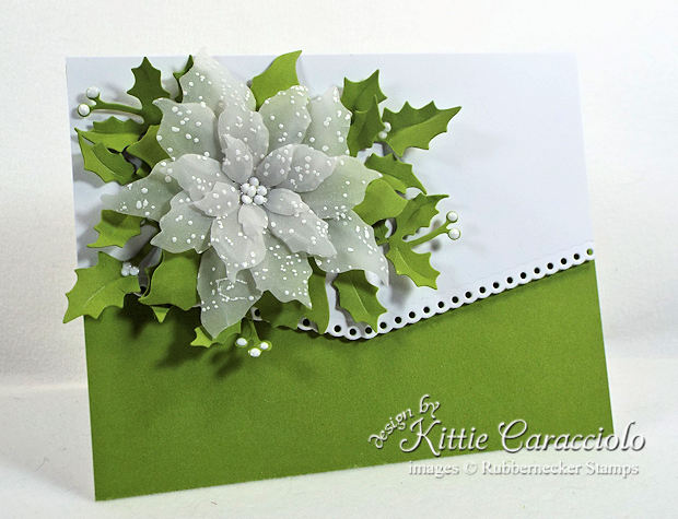 Come see how I made this lovely vellum poinsettia Christmas card.