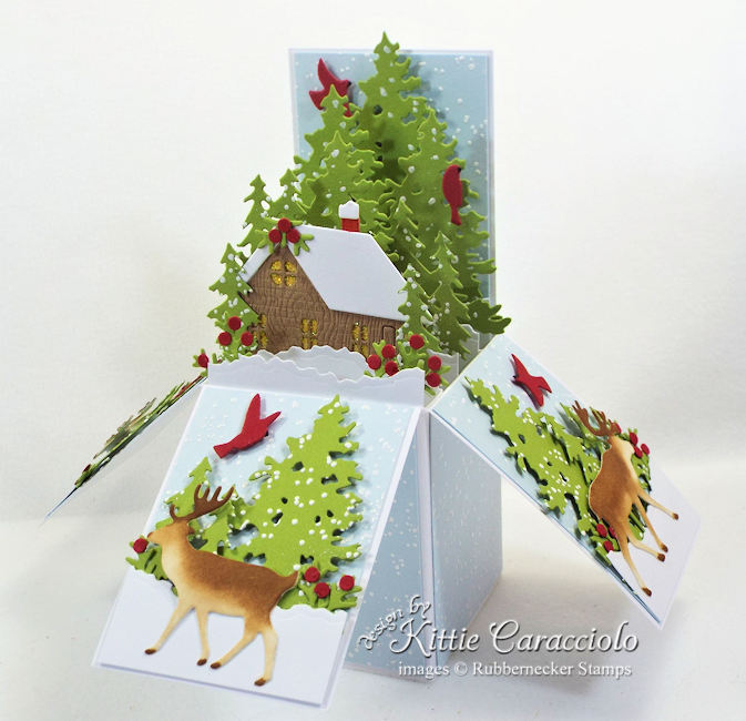 Come see how I made this pop up box card for Christmas.