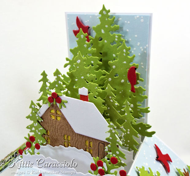 Come see how I made this snowy pop up box card for Christmas.