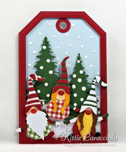 Come see how I made gnome handmade Christmas tags.