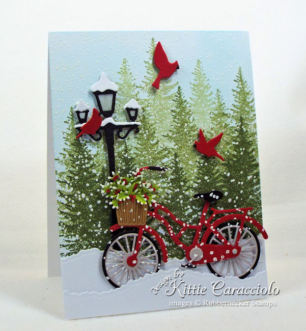 Come see how I made this lovely snowy Chritmas card.