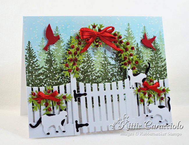 Rubbernecker Blog Come-see-how-I-made-this-snowy-whimsical-Christmas-card-with-cats-and-garden-arbor.