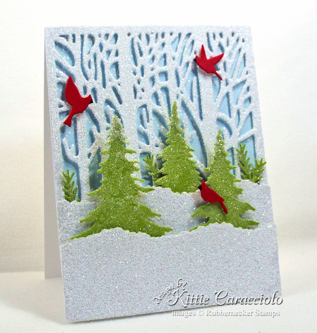 Rubbernecker Stamps Blog Come-see-how-I-made-this-sparkly-winter-scene-Christmas-card.