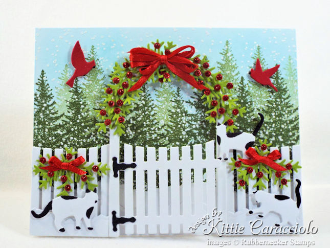 Rubbernecker Blog Come-see-how-I-made-this-sweet-whimsical-Christmas-card-with-cats-and-garden-arbor.
