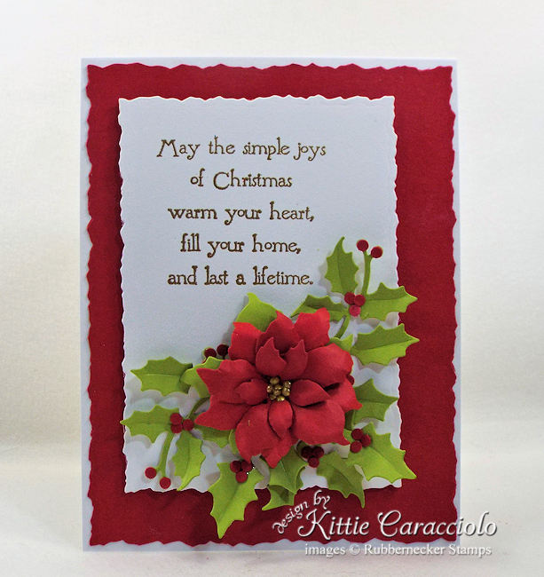I love making paper poinsettias for Christmas cards, gifts and tags. Click thru to see how I made this beautiful holiday card.
