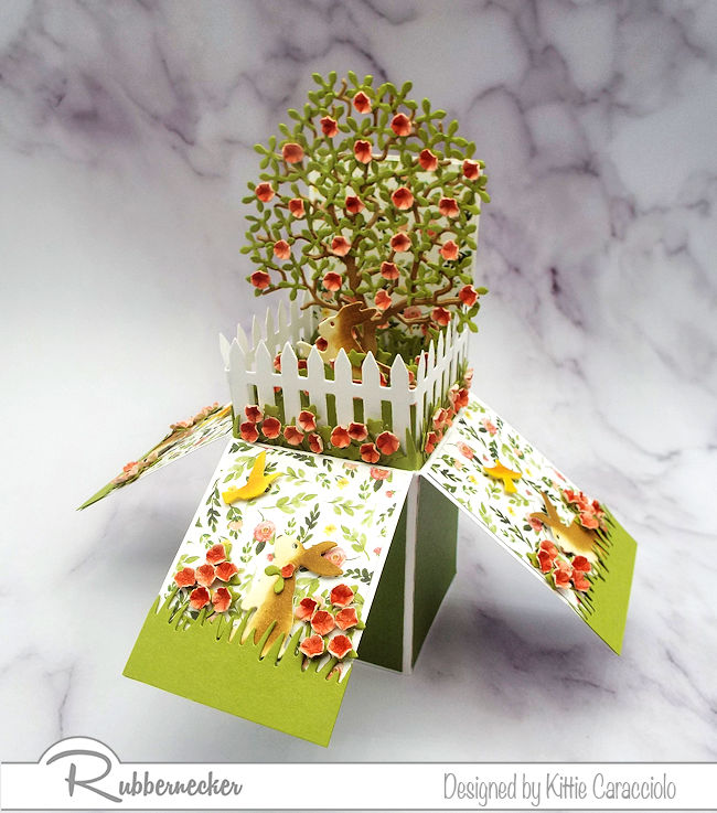 Check out this box fold pop up card - click through to see how I let the Rubbernecker dies do the work for me!