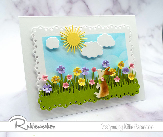 I love making Easter bunny scene cards with lots of flowrs this time of year. Click on the photo to come over to my blog to see more details.
