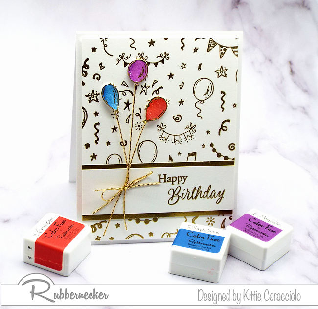 I like to keep a simple birthday card or two on hand to send out to my friends and family.  This birthday background is perfect for fast and easy cards.