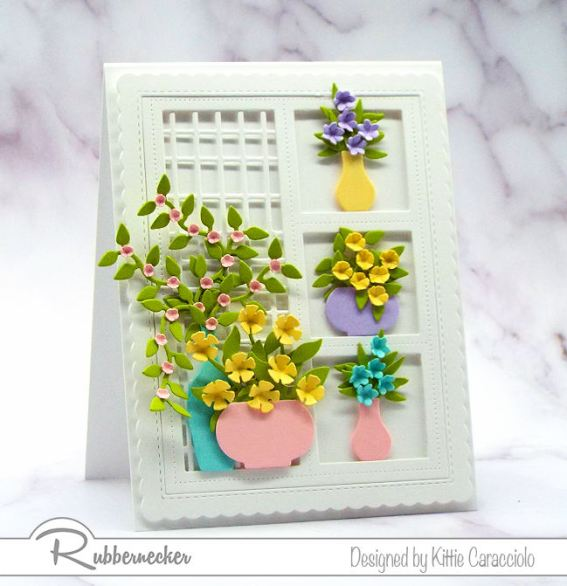 A card with soft colors looks so pretty with an all white background.