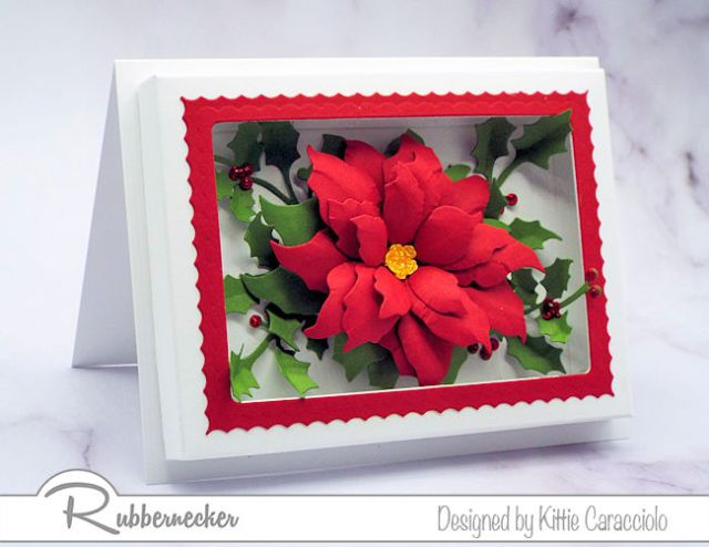 Yes, you can make this paper flower shadow box card - it's so much easier with the new dies from Rubbernecker!