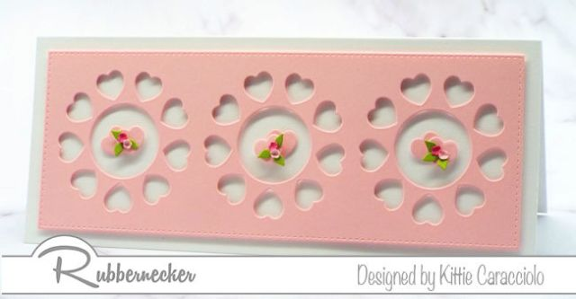 Click through to see how I made clean and simple valentine cards using one of the new dies from Rubbernecker - fast and easy and oh-so-sweet!