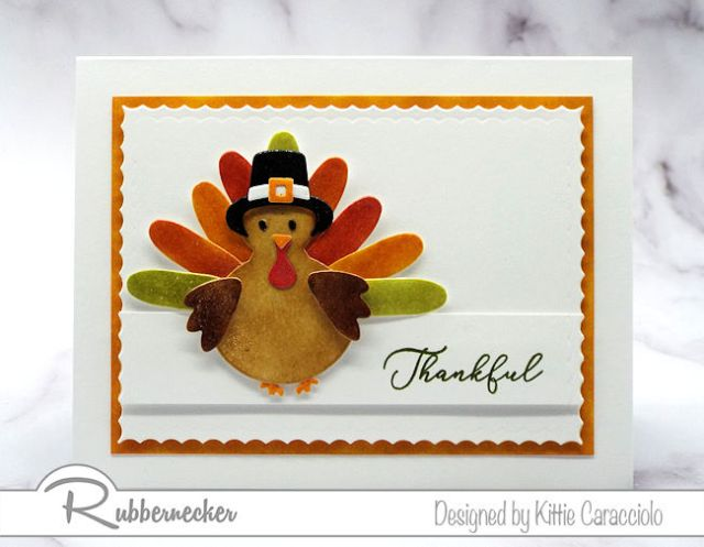This sweet turkey card was made with dies from the new Rubbernecker die release.