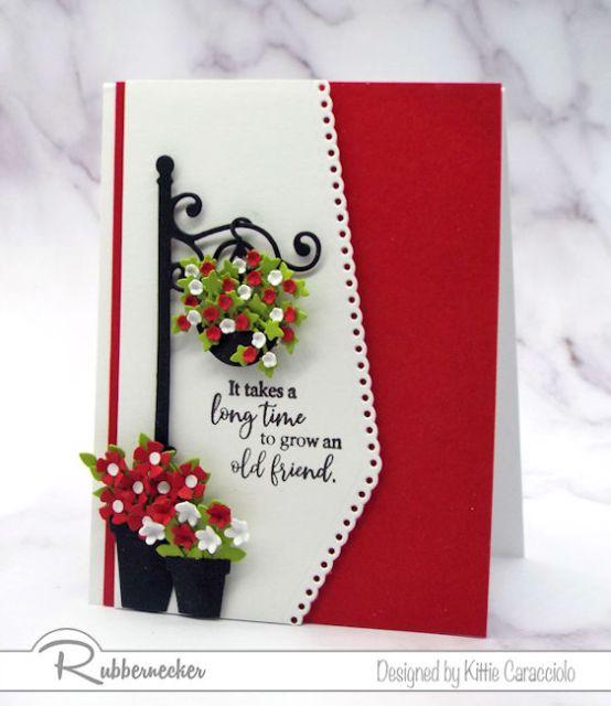 Decorative die cut borders look so beautiful on handmade cards.