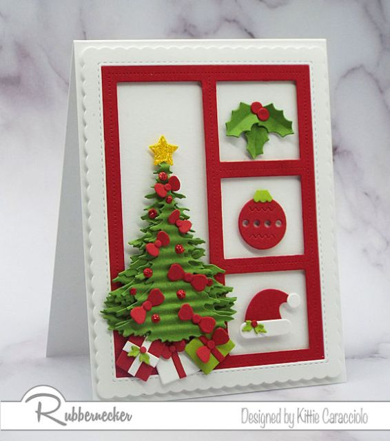 Make beautiful holiday cards with these cute Christmas die cuts.