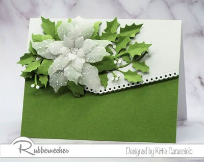 Rubbernecker's Poinsettia Online Class will show you how easy it is to create beautiful dimensional Christmas cards.
