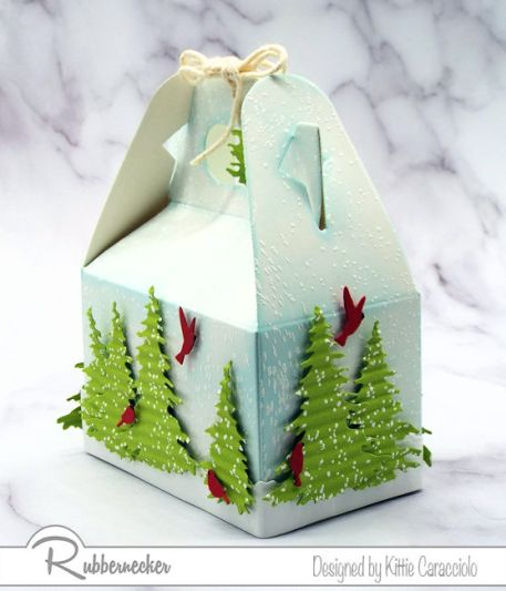 These DIY Christmas gift packages were made using a gable box but you can apply my idea to any container and have something just perfect for guy gifting!