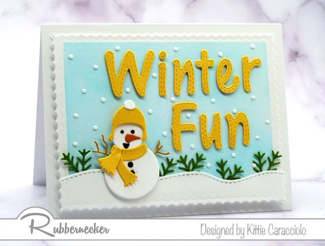 Make and send a cute handmade snowman card like this one made with dies from Rubbernecker!